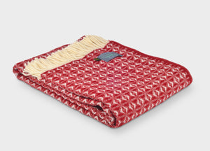 Berry Red Cobweave Throw - The British Blanket Company