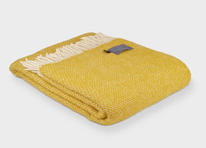 Buttercup Yellow Beehive Throw - buy at The British Blanket Company
