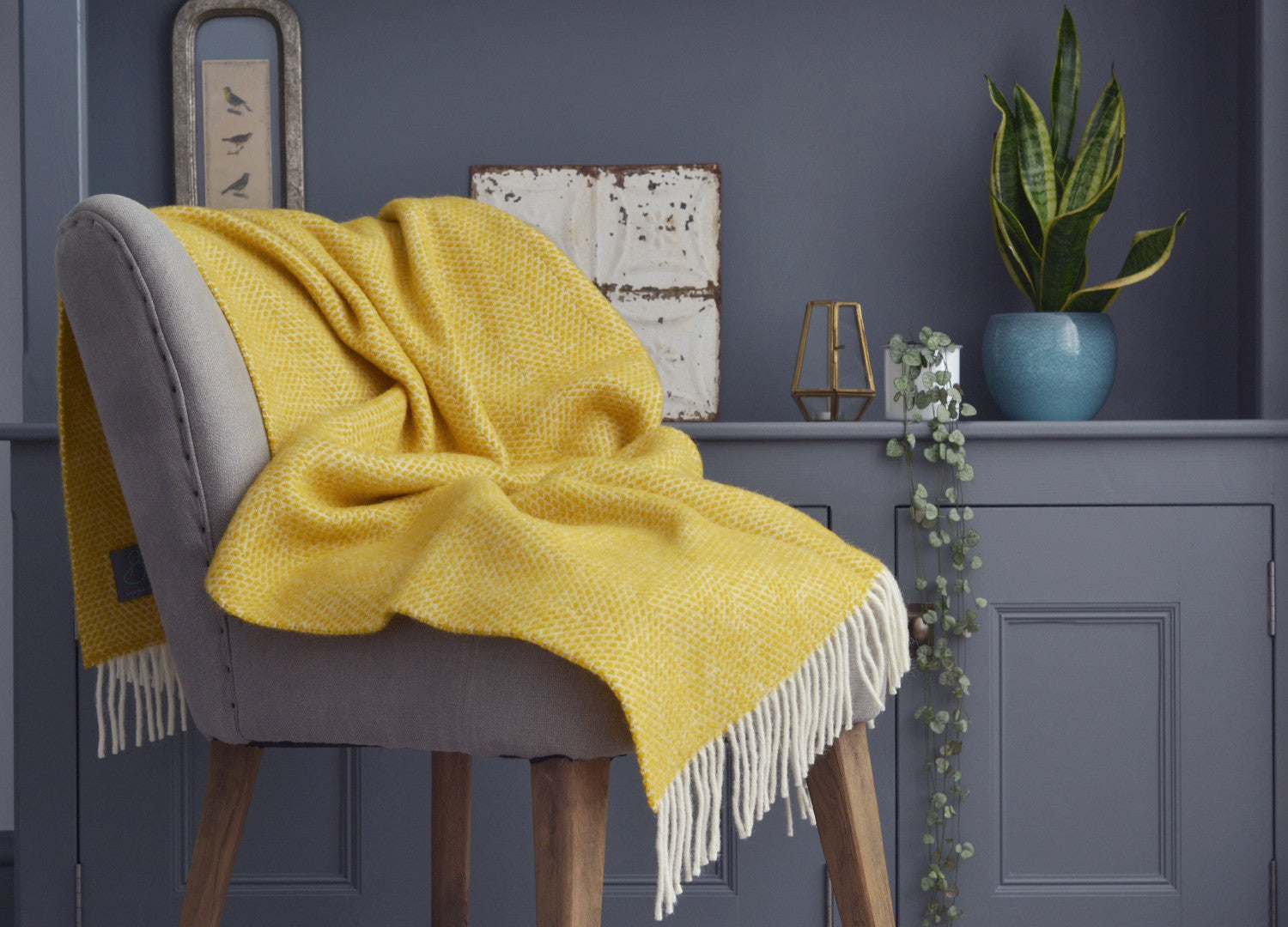80e7933f53 Buttercup Yellow Beehive Armchair Throw - buy at The British Blanket Company