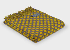 Grey and Yellow Crossroads throw - buy at The British Blanket Company