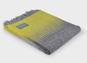 Yellow and Grey Starry Night Throw - The British Blanket Company