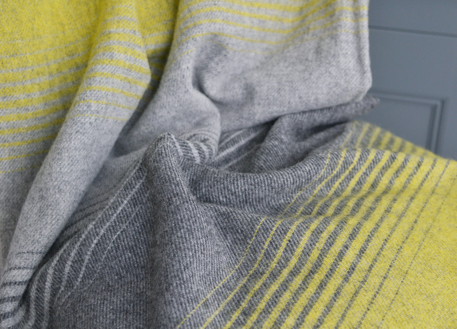133aacd72d Yellow and Grey Starry Night Throw - buy at The British Blanket Company