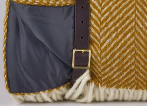 Mustard Waterproof Picnic Blanket with Straps - buy at The British Blanket Company