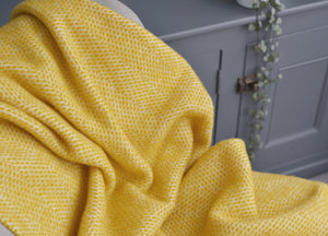 Buttercup Yellow Beehive Armchair Throw - buy at The British Blanket Company