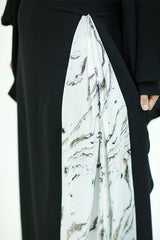 Kaftan with Marble Pleats