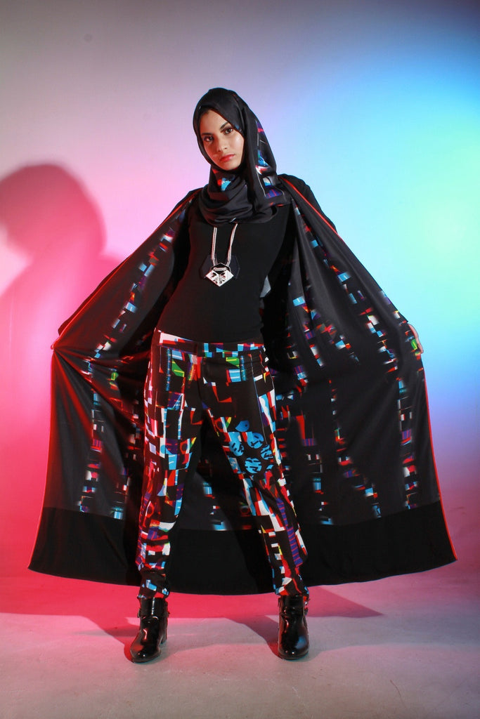 Reversible Abaya Glow Glitch