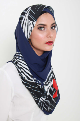 Red Navy Shawl