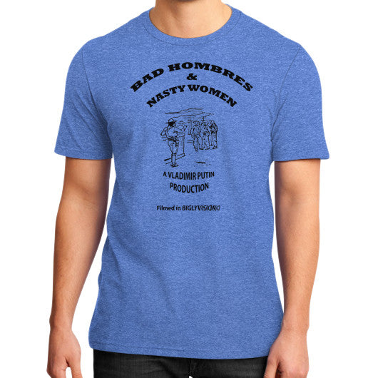 Bad Hombres & Nasty Women - The Movie Heather blue Arlington T Shirt