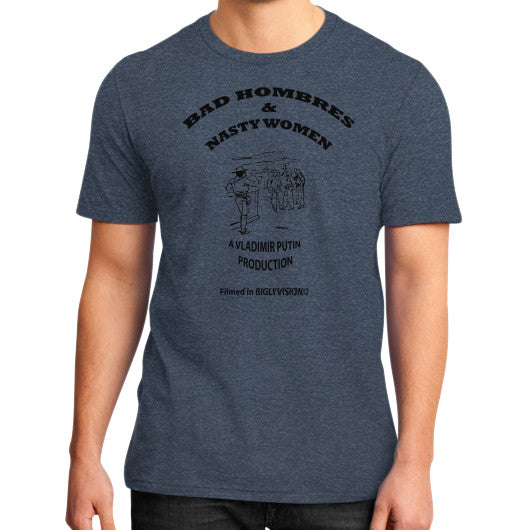 Bad Hombres & Nasty Women - The Movie Heather navy Arlington T Shirt