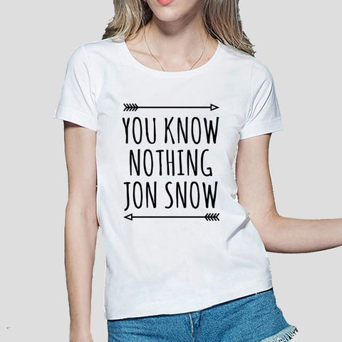 You Know Nothing Jon Snow Women's T-Shirt