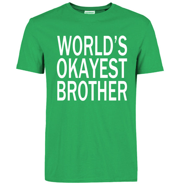 World's Okayest Brother Funny T-Shirt