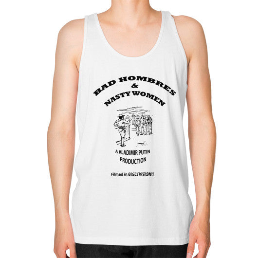 Unisex Fine Jersey Tank (on man) White Arlington T Shirt