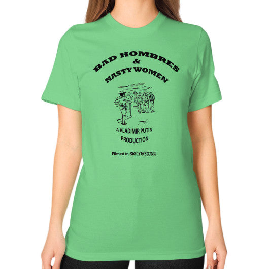 Unisex T-Shirt (on woman) Grass Arlington T Shirt