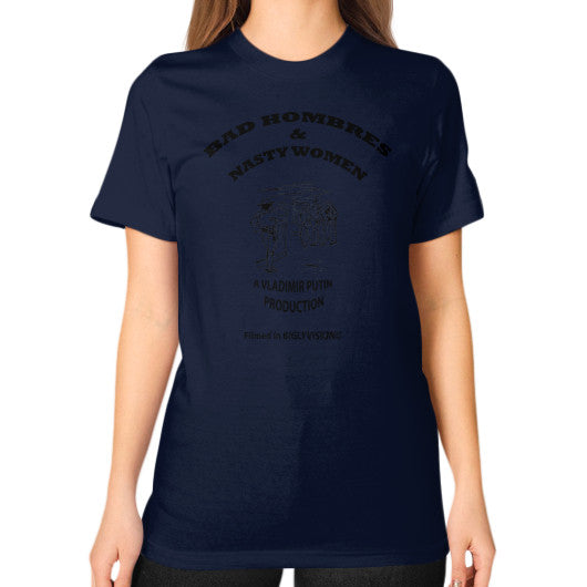 Unisex T-Shirt (on woman) Navy Arlington T Shirt