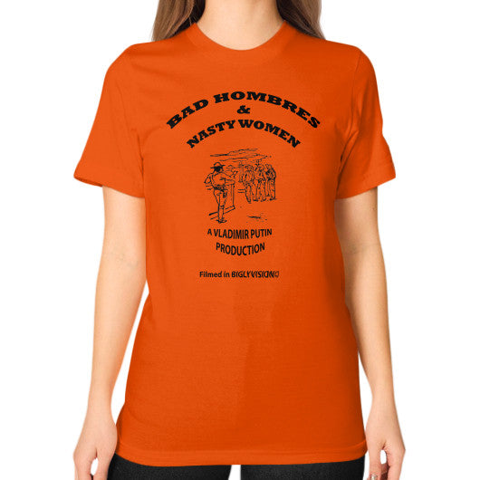 Unisex T-Shirt (on woman) Orange Arlington T Shirt