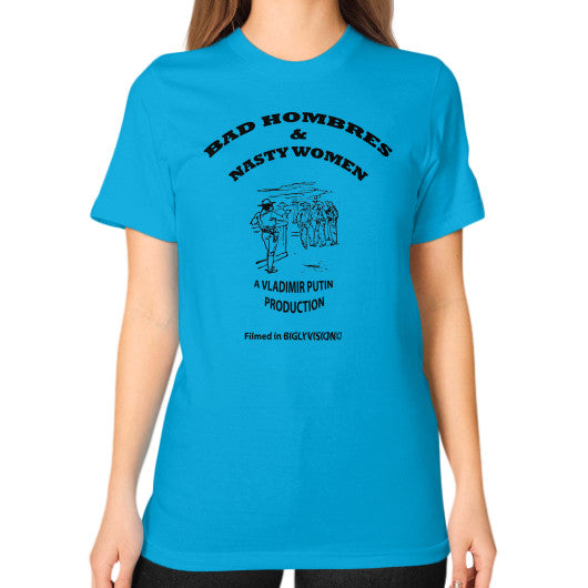 Unisex T-Shirt (on woman) Teal Arlington T Shirt