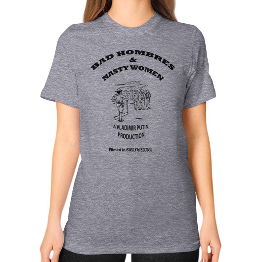 Unisex T-Shirt (on woman) Tri-Blend Grey Arlington T Shirt