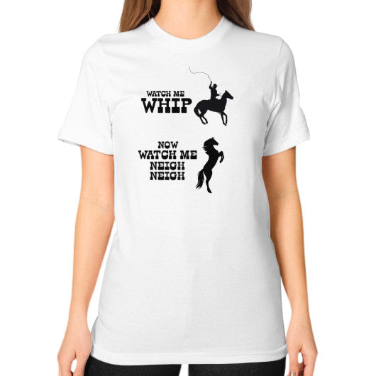 Unisex T-Shirt (on woman) White Arlington T Shirt