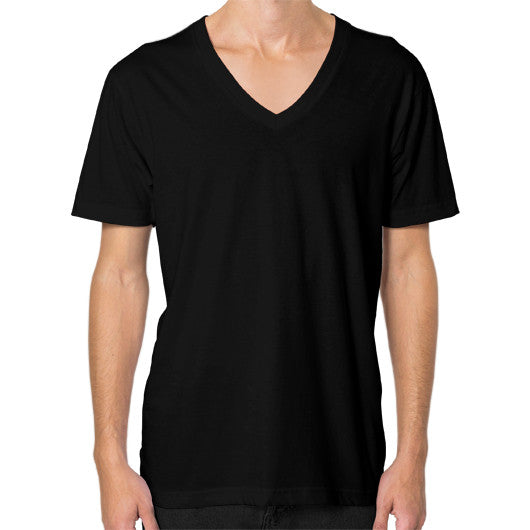 V-Neck (on man) Black Arlington T Shirt