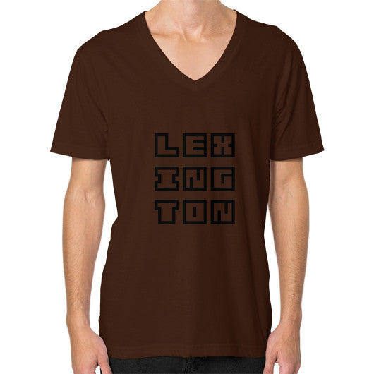 V-Neck (on man) Brown Arlington T Shirt