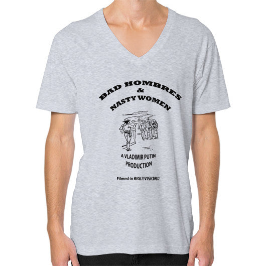 V-Neck (on man) Heather grey Arlington T Shirt