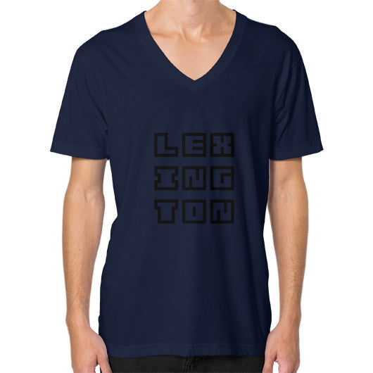 V-Neck (on man) Navy Arlington T Shirt
