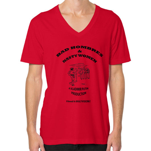 V-Neck (on man) Red Arlington T Shirt