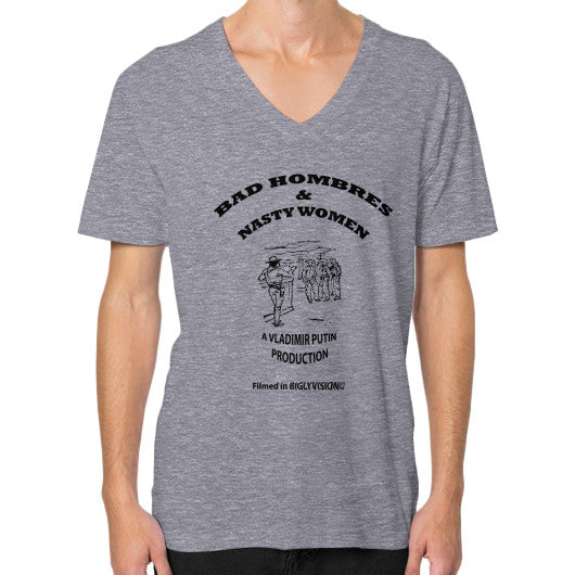 V-Neck (on man) Tri-Blend Grey Arlington T Shirt