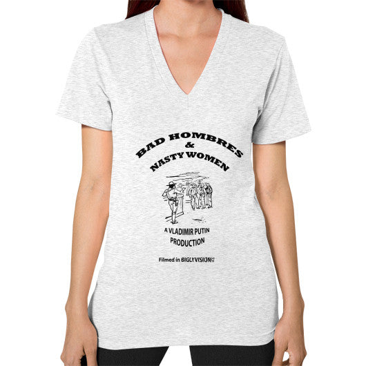 V-Neck (on woman) Ash grey Arlington T Shirt
