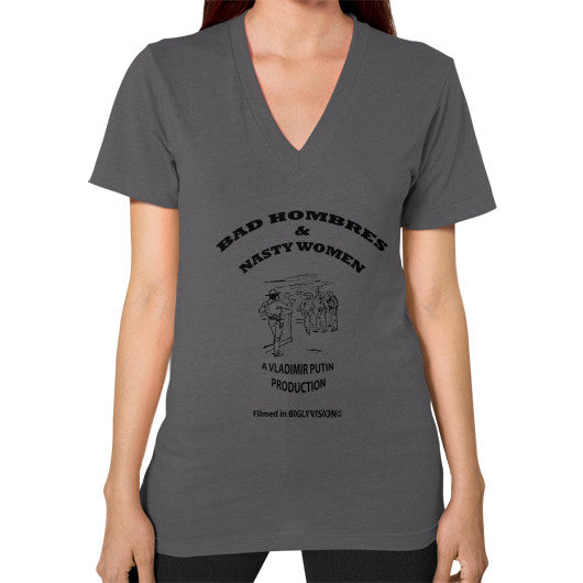 V-Neck (on woman) Asphalt Arlington T Shirt