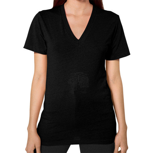 V-Neck (on woman) Black Arlington T Shirt