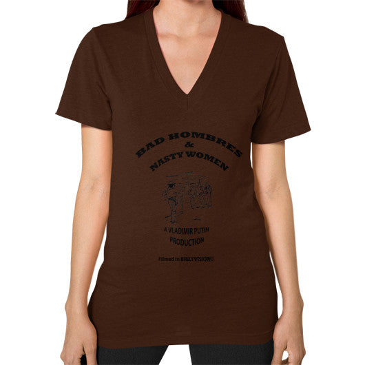 V-Neck (on woman) Brown Arlington T Shirt