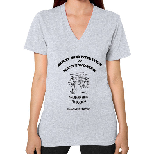 V-Neck (on woman) Heather grey Arlington T Shirt