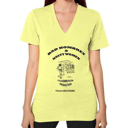 V-Neck (on woman) Lemon Arlington T Shirt
