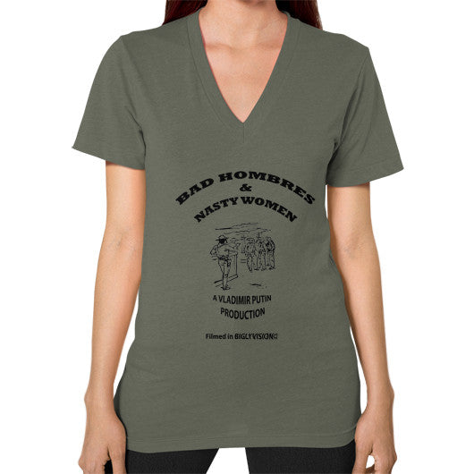 V-Neck (on woman) Lieutenant Arlington T Shirt