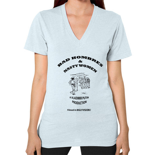 V-Neck (on woman) Light blue Arlington T Shirt