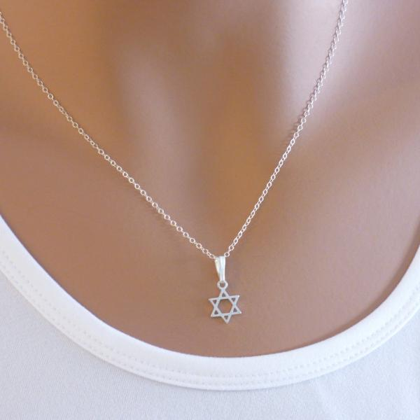 in men of chain black women israel steel stainless necklace pendant jewish color a collare jewelry item star magen judaica from necklaces with david gold
