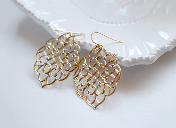 Stylish Golden Earrings