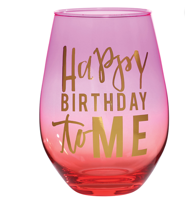 Jumbo Wine Glass - Happy Birthday To Me
