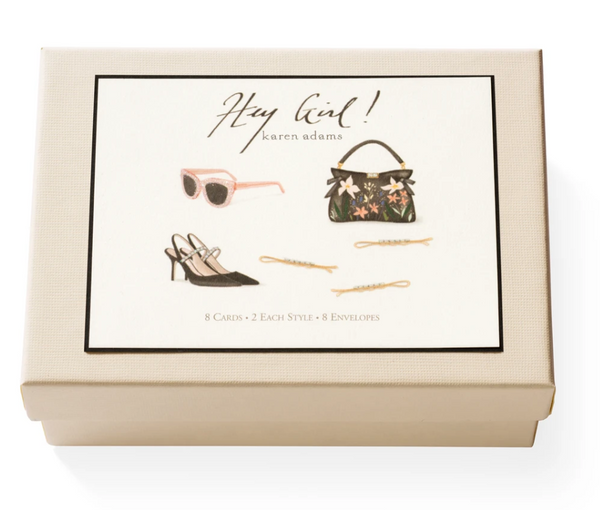 Karen Adams Hey Girl Notecard Box