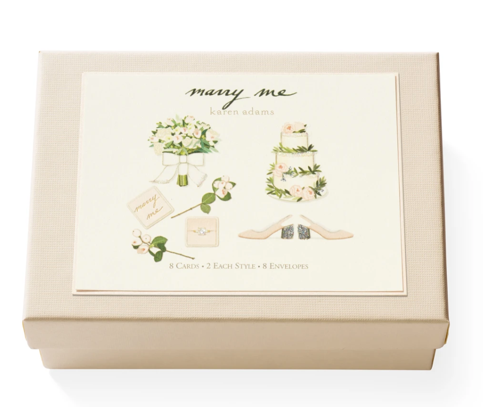 Karen Adams Marry Me Notecard Set