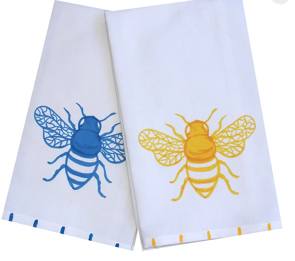 Honey Bee Cotton Dish Towel