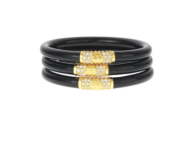 BuDhaGirl Bracelets - Black with Gold Bead