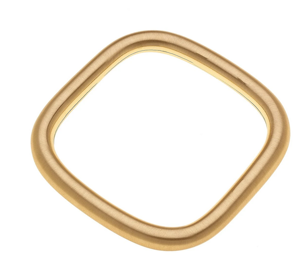 Cosette Square Bangle in Satin Gold