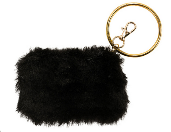 Violet & Brooks Faux Fur Coin Purse