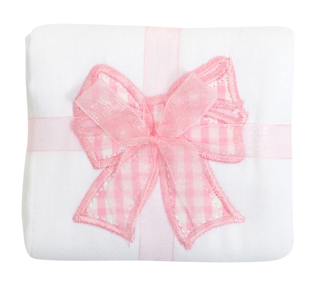 Bow Appliqued Burp Pad