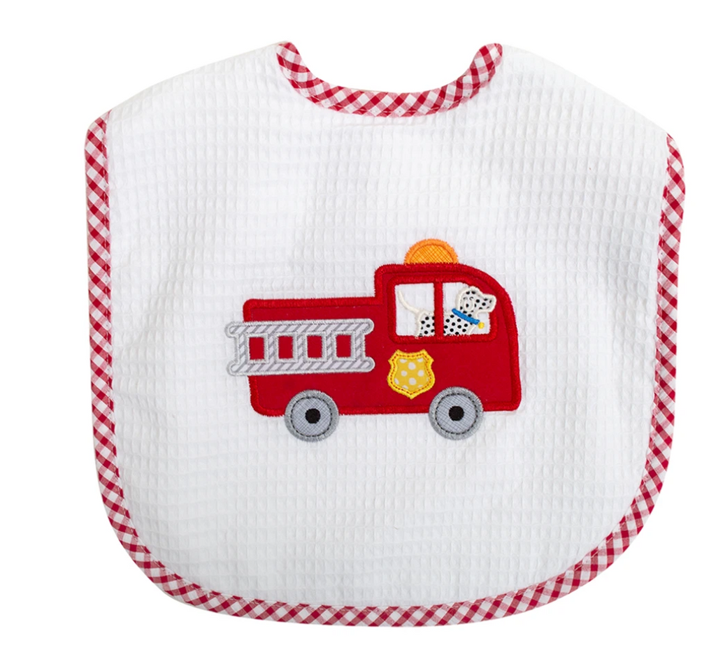 Firetruck Toddler Bib