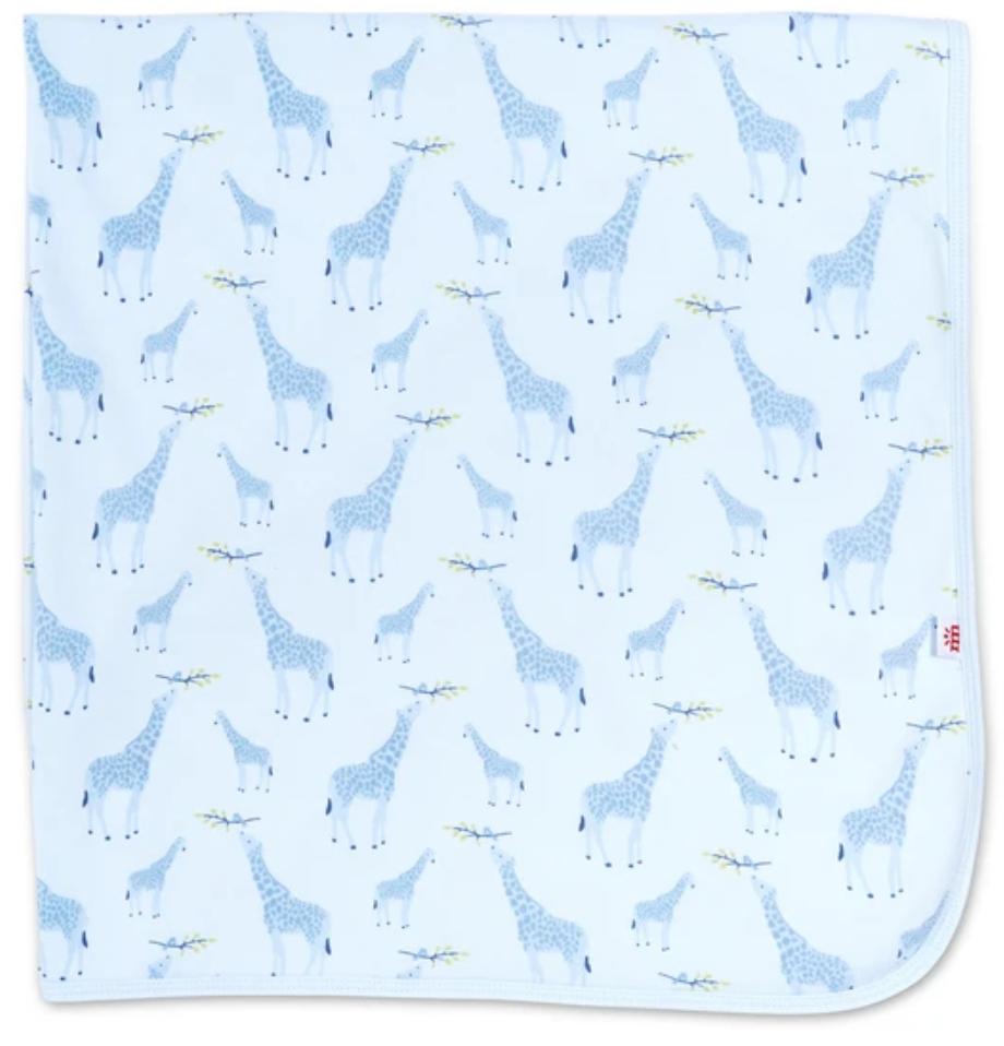 Blue Jolie Organic Cotton Blanket