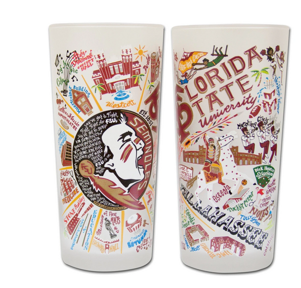 Florida State Drinking Glass