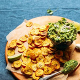 Healthy Banana Chips with Creamy Guac On The Side
